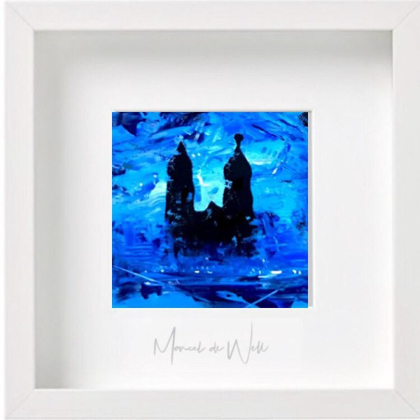 Magdeburg Dom 1 in blau