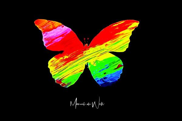 Kunstaktion für Frühchen-Station Schmetterling Happiness 15x10cm Limitiert!