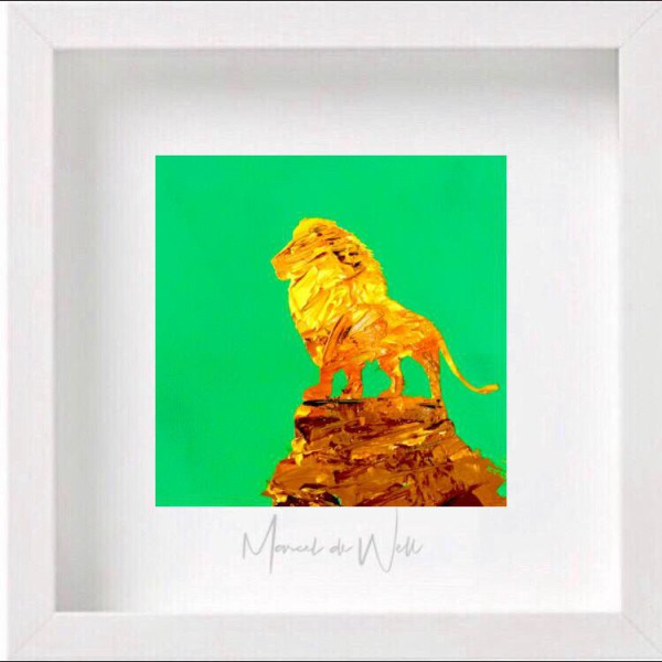 Löwe auf Grün Auftragswerk für Sven Distel (Radio Brocken)