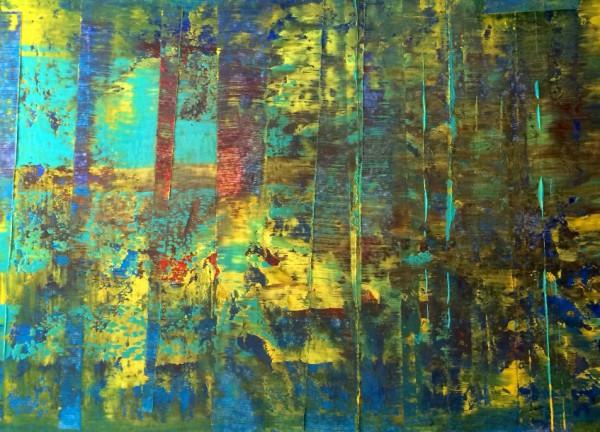 Abstrakt Wald 140x100cm