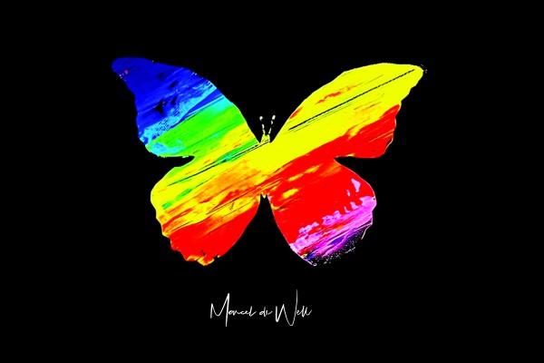 Kunstaktion für Frühchen-Station Schmetterling Love 15x10cm Limitiert!